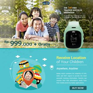 BipBip Watch THE 1st KIDS TRACKER WATCH IN INDONESIA!