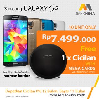 Samsung S5 Promo Mega free 1 x cicilan